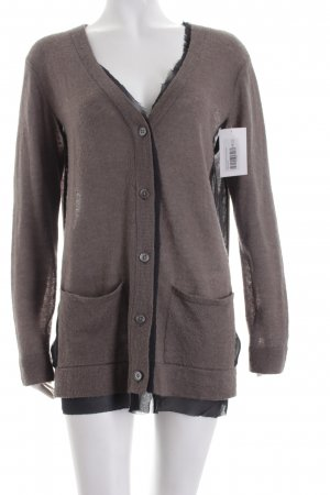 DKNY Strickjacke grau-schwarz Casual-Look