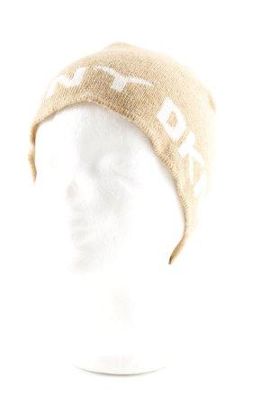 DKNY Strickmütze blassgelb-weiß Casual-Look
