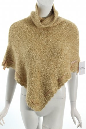 DKNY Strickponcho beige Casual-Look