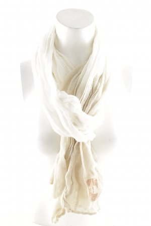 DKNY Knitted Scarf cream-beige casual look