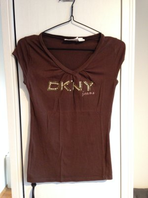 DKNY T-Shirt mit V-Ausschnitt