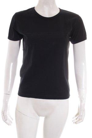 DKNY T-Shirt schwarz-silberfarben Schriftzug gedruckt Casual-Look
