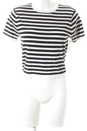 DKNY T-Shirt weiß-schwarz Streifenmuster Casual-Look