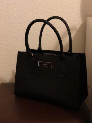 DKNY Tasche Handtasche schwarz Leder Gold