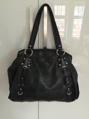 DKNY Tasche Leder schwarz