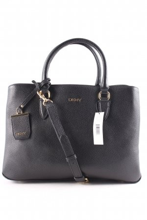 "DKNY Sac fourre-tout ""Chelsea Vintage Style Small Tote Leather Black"" noir"