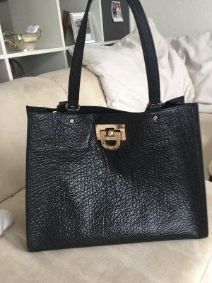 DKNY Tote Tasche schwarz, goldene Beschläge