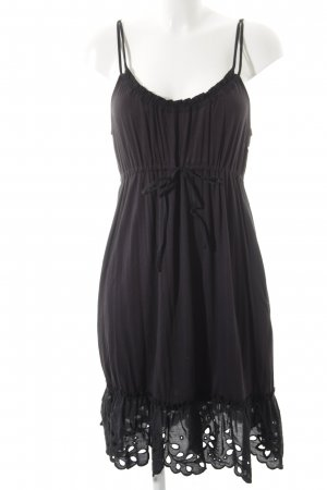 DKNY Trägerkleid schwarz florales Muster Street-Fashion-Look