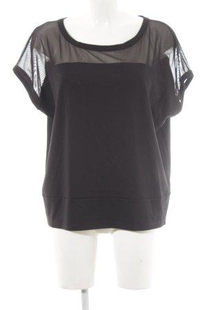 DKNY Boothalsshirt zwart casual uitstraling
