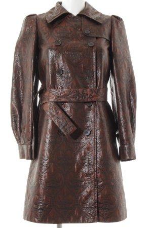 DKNY Between-Seasons-Coat brown-taupe embellished pattern
