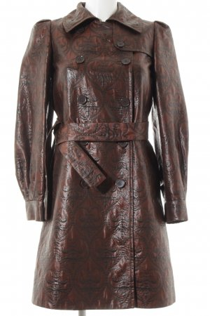 DKNY Abrigo de entretiempo marrón-taupe estampado con aplicaciones