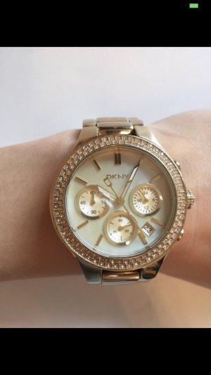 DKNY Uhr gold (Perlenblatt)