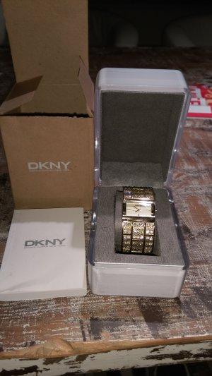 DKNY- Uhr / goldene Armbanduhr