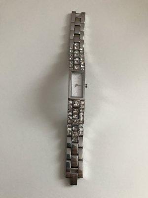 DKNY Uhr in silber mit Ziersteinen