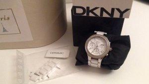DKNY Uhr, Keramik, weiß, mit Swarovskisteinen, 60,00 €