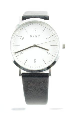 "DKNY Uhr mit Lederarmband ""Ladies Minetta Leather Watch Black"""