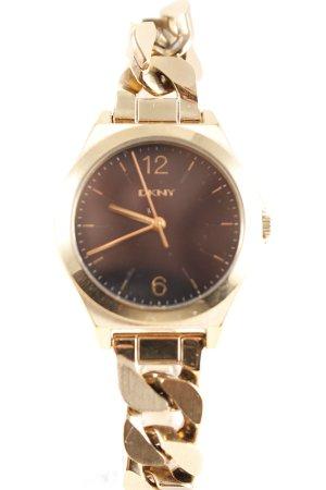 DKNY Uhr mit Metallband goldfarben klassischer Stil