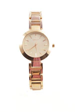 DKNY Uhr mit Metallband goldfarben Labelgravur