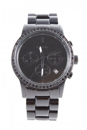 DKNY Watch With Metal Strap black casual look