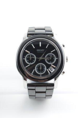 DKNY Uhr mit Metallband schwarz-silberfarben Business-Look
