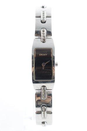 DKNY Reloj con pulsera metálica negro-color plata elegante