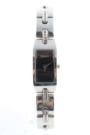 DKNY Watch With Metal Strap black-silver-colored elegant