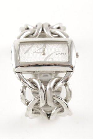 DKNY Uhr mit Metallband silberfarben Business-Look