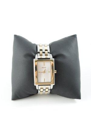 DKNY Orologio con cinturino di metallo argento-oro stile classico