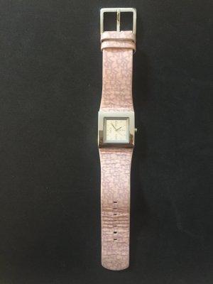 DKNY Orologio con cinturino di pelle argento-rosa chiaro