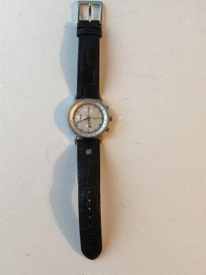 DKNY Orologio con cinturino di pelle bianco-nero