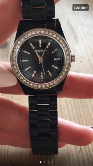 DKNY Uhr schwarz Strass