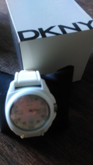 DKNY Analog Watch white-natural white synthetic material