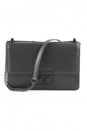 "DKNY Sac bandoulière ""Ann MD Flap Crossbody Bag Black/Black"" noir"