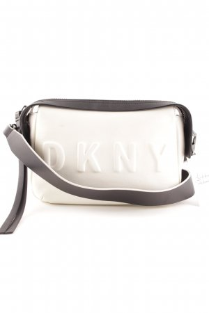 "DKNY Bandolera ""Debossed Logo Crossbody Cream-Black"""