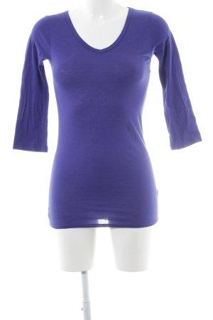 DKNY T-shirt col en V bleu violet style décontracté