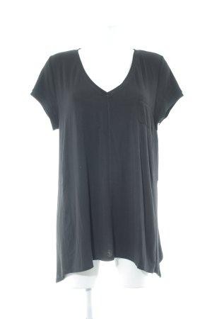 DKNY T-shirt col en V noir style décontracté
