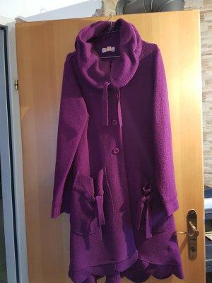 DKNY - violett färbiger Mantel aus Wolle