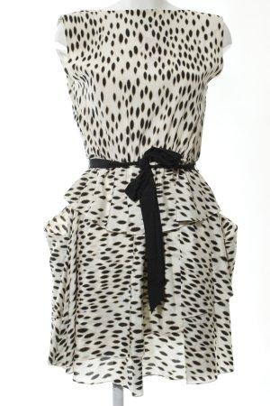DKNY Vestido estilo flounce estampado repetido sobre toda la superficie