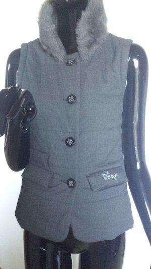 DKNY warme Weste, gefüttert mit Polyester, Webpelzkragen Gr.M
