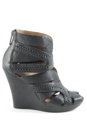 DKNY Wedges Sandaletten schwarz Elegant
