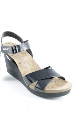 DKNY Wedges Sandaletten schwarz Street-Fashion-Look