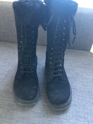 DKNY Lace-up Boots black