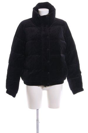 DKNY Winterjacke schwarz Schriftzug gedruckt Casual-Look