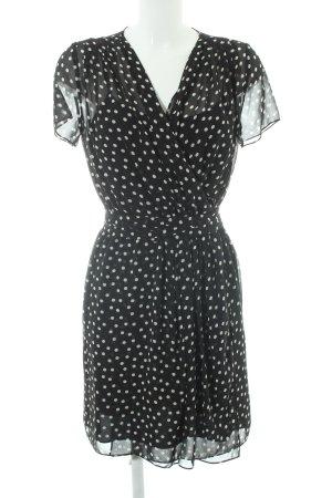DKNYC Vestido estilo flounce estampado a lunares elegante