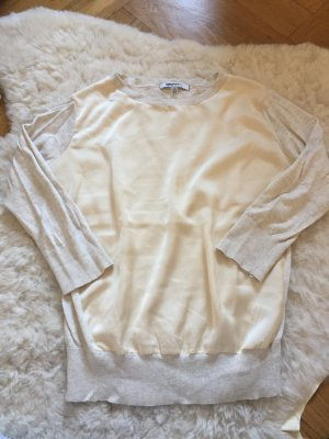 DKNYC XS beige nude Pullover Bluse Pulli langärmlig langarm 34 36 Donna karren
