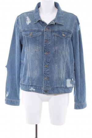 Dl1961 Jeansjacke stahlblau Street-Fashion-Look