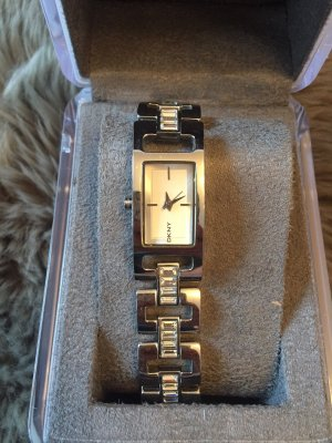 DNKY Silberne Uhr mit Glitzersteinen neuwertig