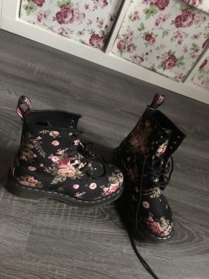 Doc Martens Stiefel Boots schwarz rosa pink Blumen Muster Print neu Rosen
