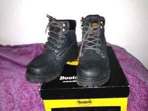 Dockers Boots schwarz Leder