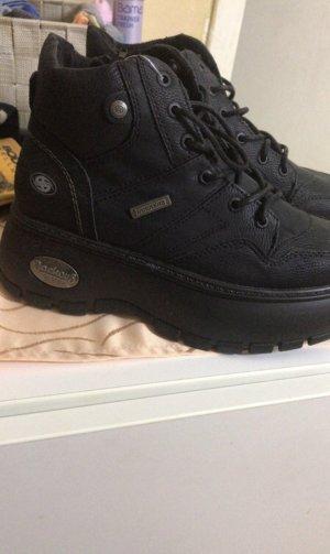 Dockers Sneakers met hak zwart-zilver